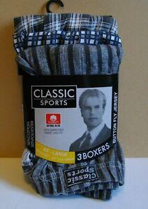 NEW 3 x Men's Calvin Sports 4xl Boxers Pant Underwear Y Fronts