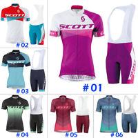 Women Cycling Jersey Bicycle Shirt Bib Short Set Bike MTB Jacket Tight Scott Kit