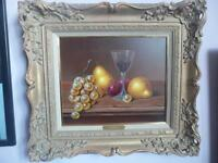 good large still life oil painting on board j f smith royal worcester artist