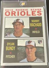 2013 Topps Heritage Chrome Silver Rookie Stars MANNY MACHADO D. Bundy #d /999