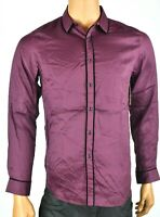 INC International Concepts Mens Wine Shirt New S L Long Sleeve Party Disco Black