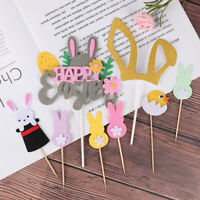 Happy Easter Rabbit Cake Toppers Cake Decorating Supplies For Easter Day Decor
