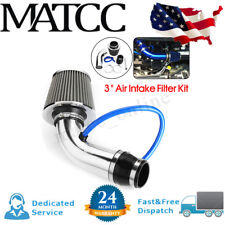 3'' Universal Car Cold Air Intake Filter Induction Kit Pipe Hose Aluminum Silver