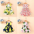 New Girls Baby Toddler Kid's Clothes Sleeveless Flower Tutu Dress Party Dresses
