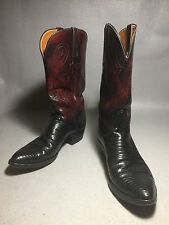 Vintage Rare LUCCHESE LIZARD skin Western Boots 9D