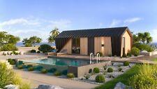 More details for timber frame building/glamping pod/residential log cabin/log cabin house 33.6m2