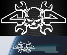 4x4 skull sticker landcruiser hilux ranger navara triton ute rear window 200mm