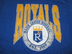 Vintage 1990 KANSAS CITY ROYALS Est 1990 XL Shirt w Tag GEORGE BRETT BO JACKSON
