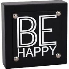 Be Happy Block Table/Desk Décor by Adams & Co. put a smile on everyones face NEW
