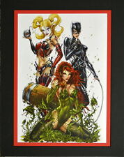 GOTHAM CITY SIRENS Print Professionally Matted Jamie Tyndall art GCS Harley Ivy