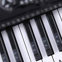 Piano Stickers Decal Removable & Transparent For 88/61/54/49 Key Keyboards