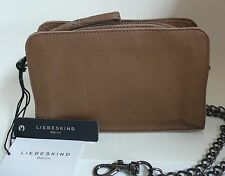 Liebeskind Berlin Crissy S Cross Body Bag Clutch New Toffee Brown Leather NWT
