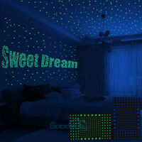 Realistic 3D Domed Glow in The Dark Stars, 606pcs for Starry Sky, Bedding Room