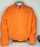 VTG 90s Polo Sport Jacket Orange Large Made in USA Harrington Ralph Lauren