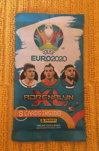 PANINI UEFA EURO 2020 XL ADRENALYN Pack of 8 Cards NEW UNOPENED Football