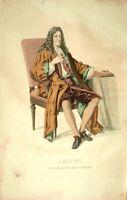 J. Racine Costume Théâtre Jean Racine gravure XIXème