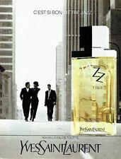Publicité Advertising  0817  1993  Yves Saint Laurent eau toilette homme Jazz