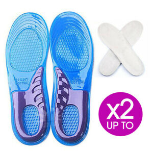 Massaging Gel Shoe Insoles Arch Supports For Men Women Flat Foot High Quality AU