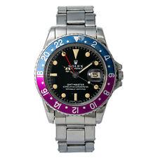Rolex GMT Master Mark 0 Fuchsia Pepsi 1675 Men's Rare Automatic Watch Gilt Dial