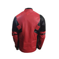 Mens Deadpool Biker Faux Leather Red jacket | All Sizes