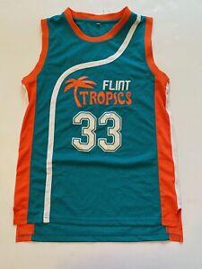 Flint Tropics #33 Jackie Moon Semi Pro Basketball Jersey Medium Will Ferrell