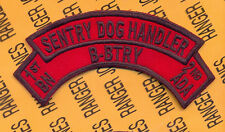 B Battery 1st Bn 2nd ADA Air Defense Artillery SENTRY DOG HANDLER scroll arc tab