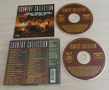 2 CD ALBUM COUNTRY COLLECTION 40 TITRES 1993 CALVIN RUSSEL JOHNNY CASH PARTON
