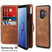 Samsung Galaxy S9 S8 Plus S7 Shockproof Flip Card Slot Wallet Leather Case Cover