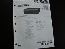 Original Service Manual Schaltplan Sony SEQ-H5900