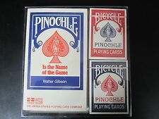 Walter Gibson's Pinochle Book 1974 w/ Vintage Bicycle Playing Cards Set NIB
