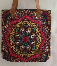 New fashionable canvas boho tote shoulder/beach shopping bags MANDALA