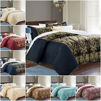 Quilted Bedspread Set Bed Throw Comforter Double King Super King Size Bedding