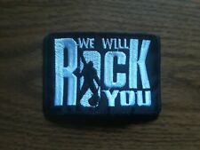 We Willrock You,Sew On White Embroidered Patch