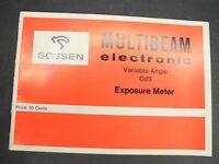 Gossen Multibeam Electronic Variable Angle CdS Exposure Meter Instruction