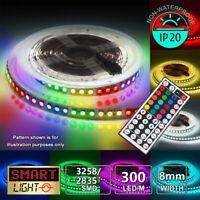 16.4FT 3528 RGB LED Strip Light +44 Key Remote Controller+Power Fairy Lights TV
