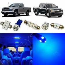 8x Blue LED lights interior package kit for 2004-2012 Chevy Colorado CC3B