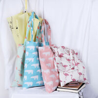 1x Cute animals linen bag tote ECO shopping outdoor canvas shoulder bags _ZT