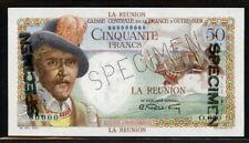 Reunion 1947, 50 Francs Specimen, P44s, UNC