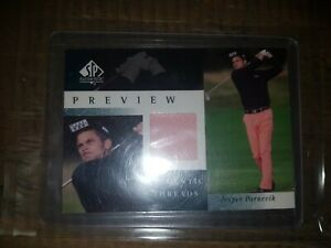 2001 SP Authentic Preview Threads Jesper Parnevik #JP-AT Rookie