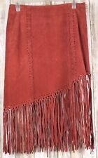 WET SEAL RED LEATHER SKIRT Size 3