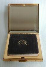 Vtg Perfumed Compact Body Powder Charles Of The Ritz w/ Original Puff Used Usa