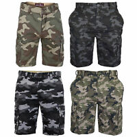 Mens Camouflage Cargo Shorts Combat Knee Length Army Military Westace Summer New