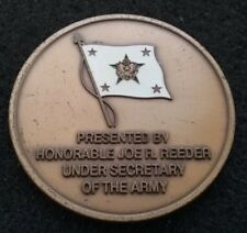 AUTHENTIC Under Secretary of the Army SecArmy Reeder DoD General Challenge Coin