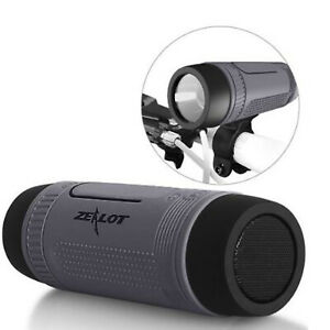 Bicycle Bluetooth Speaker Outdoor Flashlight Power Bank Support TF Card FM Radio