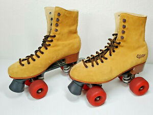 Sketchers 4 Wheelers Classic Brown High Top Roller Skates 4 Wheel Womens Size 9
