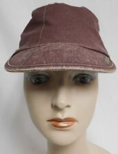 KANGOL CANVAS  ARGYLE MAU CAP WITH SIDE ZIPPER RED WINE COLOR WITH STITCHING GUC
