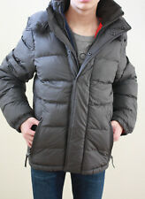 NWT ABERCROMBIE & FITCH MENS Ranney Trail Puffy Jacket Coat Gray  Sz. M