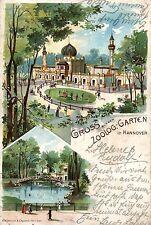 91/ Litho AK, Gruss aus dem zoologischen Garten Hannover, 1901