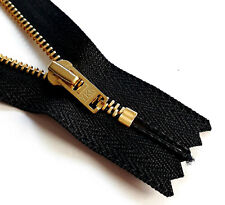 Zip Black Indivisible Metal Chain Various Colours Size 3 YKK Молния