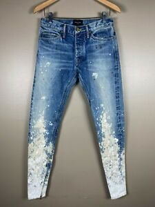 Fear Of God Fifth Collection Paint Splatter Jeans Size 29 Brand New With Tags